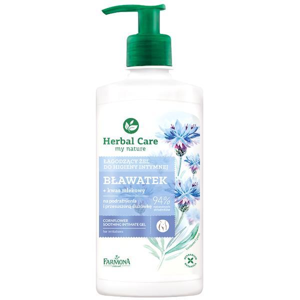 Gel Calmant pentru Igiena Intima cu Extract de Albastrele - Farmona Herbal Care Cornflower Soothing Intimate Gel, 330ml poza