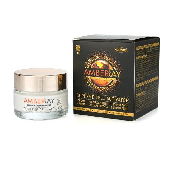Crema Iluminatoare si Stimulatoare de Noapte - Farmona Amberray Supreme Cell Activator Cream, 50ml imagine produs