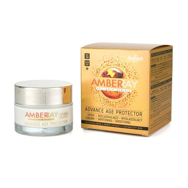 Crema Iluminatoare si de Netezire de Zi SPF 30 - Farmona Amberray Advance Age Protector Cream, 50ml imagine produs