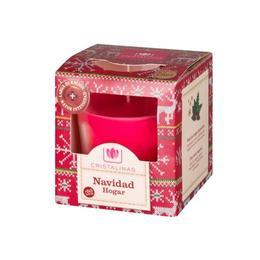 Lumânare naturală Cristalinas - aromă Sărbători 50 ore, 545 g
