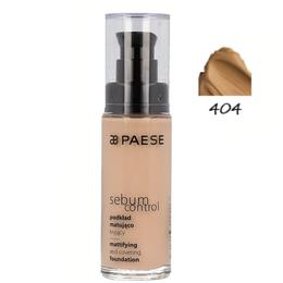 Fond de Ten Matifiant - Paese Sebum Control Mattifying and Covering Foundation, nr. 404 Tanned, 30ml
