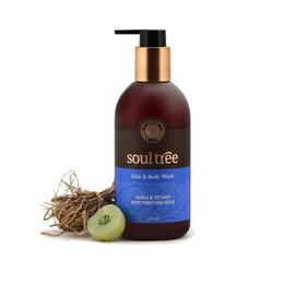 Sampon si gel de dus cu amla, vetiver, neem - Soultree, 300 ml