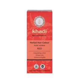 Vopsea de par naturala Henna naturala (Rosu) - Khadi 100g