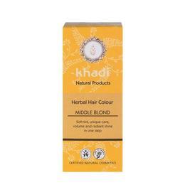Vopsea de par organica Henna, culoare Blond Mediu Khadi, 100 g