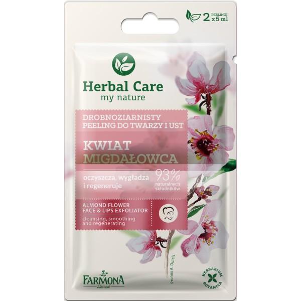Exfoliant pentru Fata si Buze cu Floare de Migdal - Farmona Herbal Care Almond Flower Face & Lips Exfoliator, 2 x 5ml imagine produs