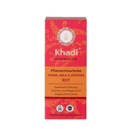 Vopsea de par Organica Henna cu amla si jatropha, culoare Rosu - Khadi 100 g
