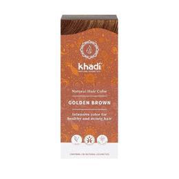 Vopsea de par organica naturala Khadi, culoare Saten Auriu - 100 g