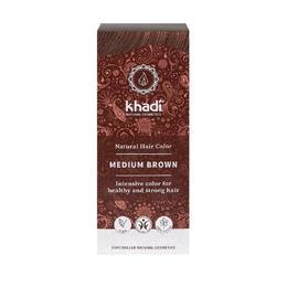 Vopsea de par organica naturala Khadi culoare Saten Mediu - 100 g