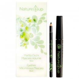 Imagine Set Machiaj Creion De Ochi + Rimel Pentru Volum - Nature Up Make-up Kit Eyeliner Voluminous