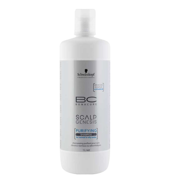 Sampon pentru Scalp Normal sau Gras - Schwarzkopf BC Scalp Genesis Purifying Shampoo, 1000ml imagine