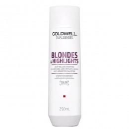 Sampon pentru Par Blond - Goldwell Dualsenses Blondes & Highlights Anti-Yellow Shampoo 250ml
