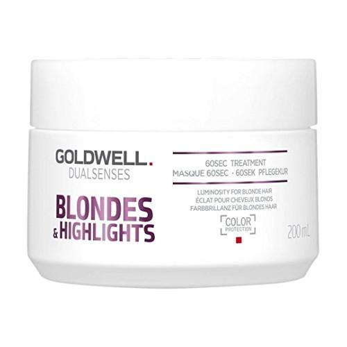 Masca pentru Par Blond - Goldwell Dualsenses Blondes & Highlights 60sec Treatment 200 ml imagine