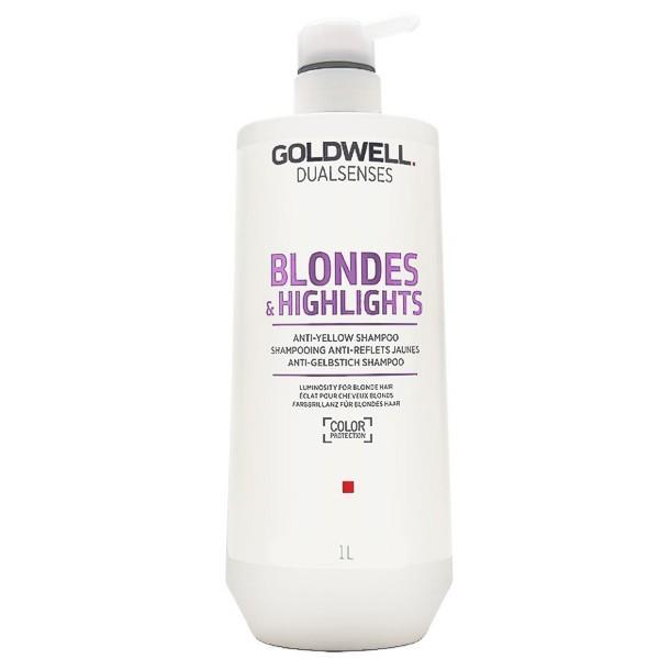 Sampon pentru Par Blond - Goldwell Dualsenses Blondes & Highlights Anti-Yellow Shampoo 1000ml imagine
