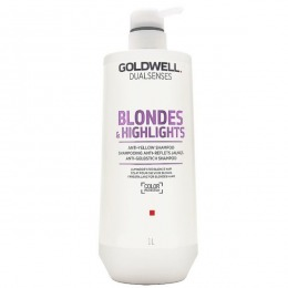 Sampon pentru Par Blond - Goldwell Dualsenses Blondes & Highlights Anti-Yellow Shampoo 1000ml