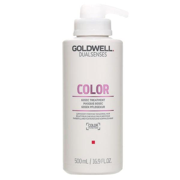Masca pentru Par Vopsit, Fin si Normal - Goldwell Dualsenses Color 60sec Treatment 500ml imagine