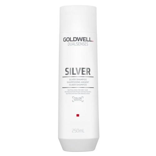 Sampon pentru Par Blond si Grizonat - Goldwell Dualsenses Silver Shampoo 250ml imagine produs