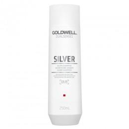 Sampon pentru Par Blond si Grizonat - Goldwell Dualsenses Silver Shampoo 250ml