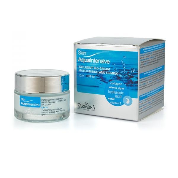Biocrema de Lux pentru Zi SPF 10 - Farmona Skin Aqua Intensive Exclusive Bio-Cream Day SPF 10, 50ml imagine produs