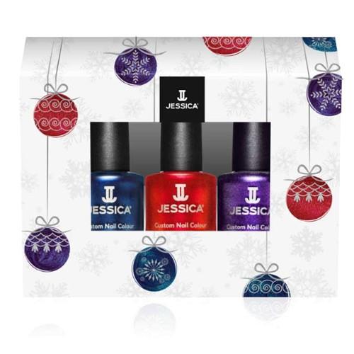 Kit Lac de Unghii 3 Culori - Jessica Custom Nail Holiday Trio, 3 x 7.4ml imagine produs