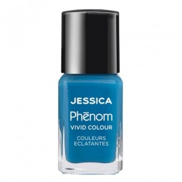 Lac de Unghii - Jessica Phenom Vivid Colour 008 Fountain Bleu, 15ml