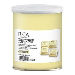 Ceara Epilatoare Liposolubila cu Ciocolata Alba pentru Piele Uscata - RICA White Chocolate Liposoluble Wax for Dry Skin, 800ml