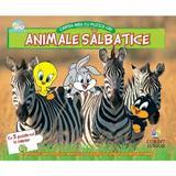 Cartea mea cu puzzle-uri, animale salbatice editura Corint
