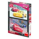 Puzzle 2 in 1 - Cars 3: Cursa cea mare (77 piese)