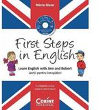 First Steps in English. Lectii pentru incepatori (contine CD audio), editura Corint