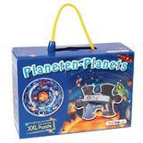 Puzzle circular XXL - piese mari - Sa invatam planetele -