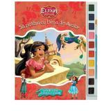 Sa pictam cu Elena din Avalor - Carte de colorat cu pensula si acuarele, editura Litera