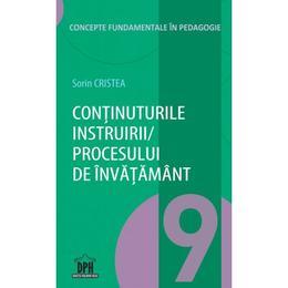 Continuturile instruirii/procesului de invatamant - Sorin Cristea, editura Didactica Publishing House
