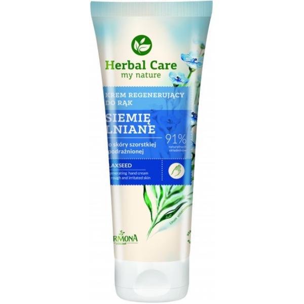 Crema Regeneratoare pentru Maini cu Extract de Seminte de In - Farmona Herbal Care Flaxseed Regenerating Hand Cream, 100ml imagine produs