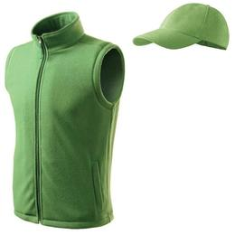 Vesta Adler - verde iarba din fleece marimea XL + sapca