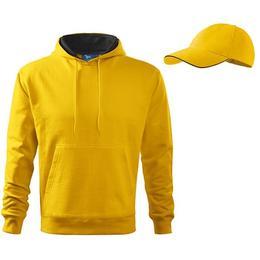 Hanorac Adler - galben pentru barbati, marime 2XL + sapca