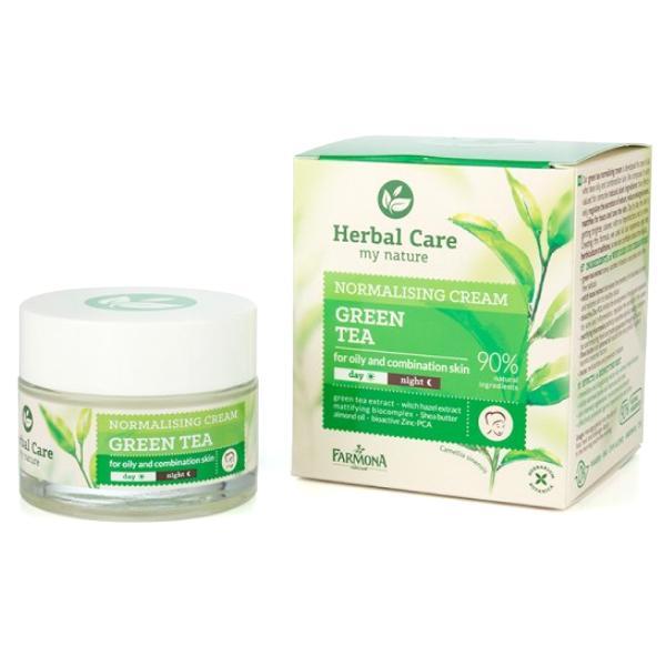 Crema Normalizatoare de Zi/Noapte cu Ceai Verde - Farmona Herbal Care Green Tea Normalising Cream Day/Night, 50ml imagine produs