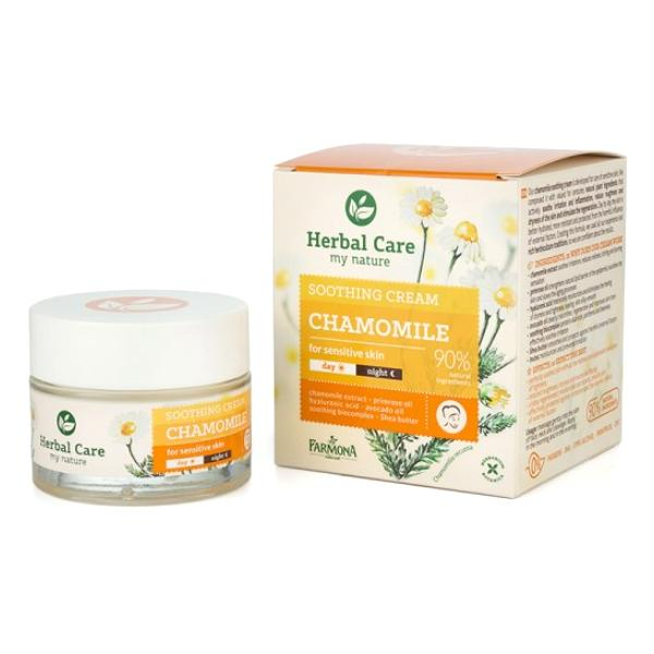 Crema Calmanta de Zi/Noapte cu Musetel - Farmona Herbal Care Chamomile Soothing Cream Day/Night, 50ml imagine produs