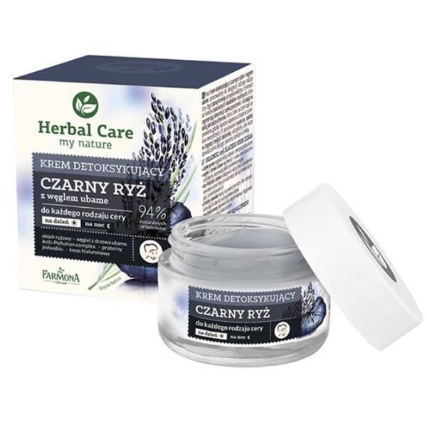Crema Detoxifianta de Zi/Noapte cu Orez Negru - Farmona Herbal Care Black Rice Detoxifying Cream Day/Night, 50ml imagine produs
