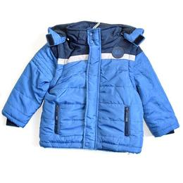 Geaca cu maneci detasabile baieti, Losan, 5-6 ani sau 116 cm, bleumarin cu albastru