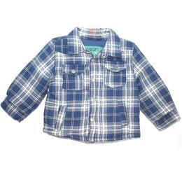 Geaca primavara-toamna baieti, bumbac 100%, Losan, 6-9 luni sau 71 cm, carouri, bleumarin