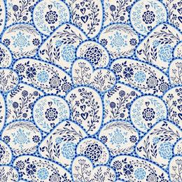 Fata de masa impermeabila, Casa de bumbac, Ona, 100x140 cm, albastru