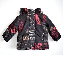 Geaca unisex, Losan, 7 ani sau 122 cm, negru cu rosu