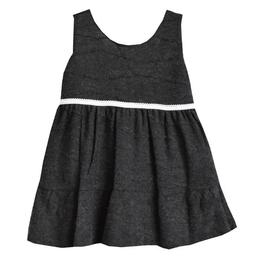 Rochita primavara - toamna, sarafan, dublata la interior cu bumbac, material tricotat pe exterior, 2-3 ani