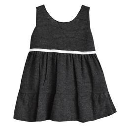 Rochita primavara - toamna, sarafan, dublata la interior cu bumbac, material tricotat pe exterior, 6-12 luni