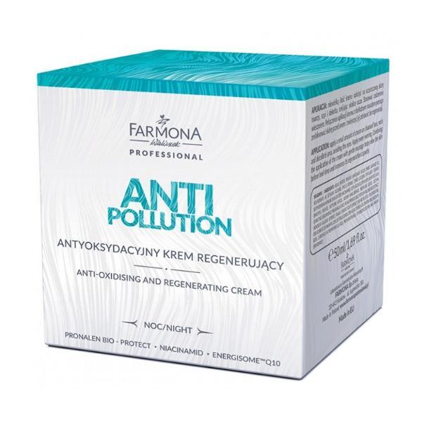 Crema de Noapte Antioxidanta si Regeneratoare - Farmona Anti Pollution Anti-Oxidising and Regenerating Night Cream, 50ml imagine produs