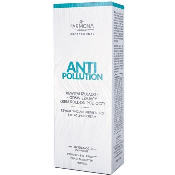 Crema pentru Ochi Roll-On Revitalizanta de Zi/Noapte - Farmona Anti Pollution Revitalising and Refreshing Eye Roll-On Cream Day/Night, 15ml imagine produs