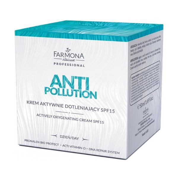 Crema Activ Oxigenanta de Zi SPF 15 - Farmona Anti Pollution Actively Oxigenating Day Cream SPF 15, 50ml imagine produs