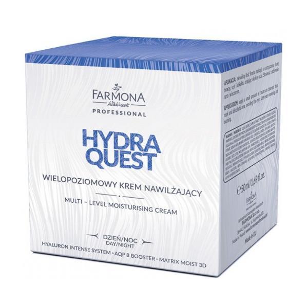 Crema Hidratanta Multifunctionala - Farmona Hydra Quest Multi-Level Moisturising Cream, 50ml imagine produs