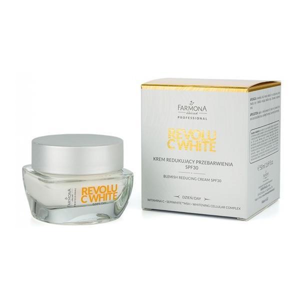 Crema de Zi pentru Reducerea Petelor SPF 30 - Farmona Revolu C-White Blemish Reducing Cream, 50ml imagine produs