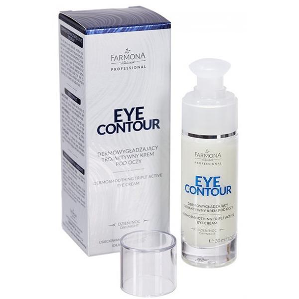 Crema pentru Ochi cu Efect de Netezire cu Tripla Actiune - Farmona Eye Contour Dermosmoothing Triple Active Eye Cream, 30ml imagine produs