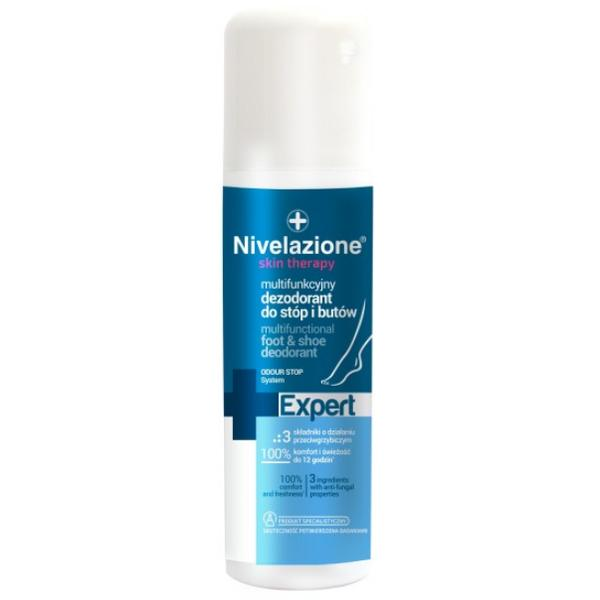 Deodorant Multifunctional pentru Picioare si Incaltaminte - Farmona Nivelazione Skin Therapy Expert Multifunctional Foot & Shoe Deodorant, 150ml imagine produs